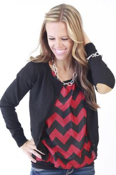 Elbow Patch Cardigan from OurWorldBoutique