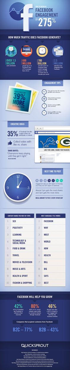 How to Increase Your #Facebook Engagement by 275%  www.socialmediamamma.com Facebook Infographic #socialmedia
