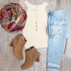 Elison Knit Top - Ivory