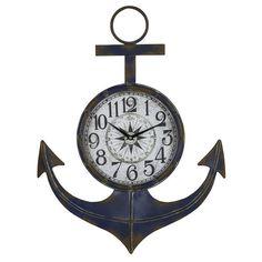 Cooper Classics Anchor Clock