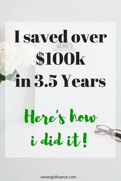 I'm sharing how I saved over $100,000 without earning a six figure salary in less than 4 years. 3.5 to be exact. Took a lot of hard work but I did it and so can you!