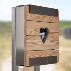 Herziger Briefkasten Glasnost Woodheart 5526027