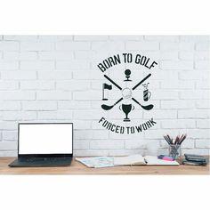 Born To Golf Stencil Wallpaper Stencil, Stencils, Golf, Pattern, Home Decor, Decoration Home, Patterns, Interior Design, Home Interior Design