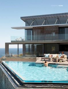 Holiday Home on South Africa's Garden Route - Design: Magda Viotti, Tania Reddering and Plettenberg Bay's Reidwood Furniture Interior Exterior, Exterior Design, Cool Pools, Pool Designs, Estate Homes, Outdoor Pool, My Dream Home, Future House, Beautiful Homes