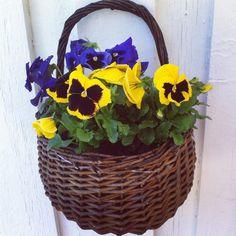Vintage feeling flower basket