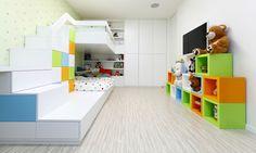 room for kids modern apartment interior design Ikea Design, Modern Apartment Design, Modern Interior, Modern Luxury, Modern Design, Minimalist Nursery, Cool Kids Rooms, Kids Room Design, Interiores Design