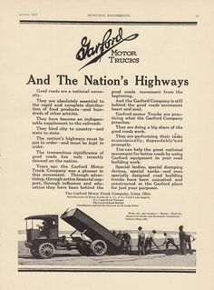 1924 ad gas electric trucks under seat engine autocar for Ford motor company lima ohio
