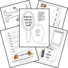 FREE All About Me Lapbook from Homeschool Share prek-early elem.use aluminum foil to make a mirror! All About Me Crafts, All About Me Preschool, Preschool Writing, Toddler Preschool, Quiet Time Activities, Speech Therapy Activities, Preschool Activities, Women's History, British History
