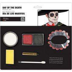 Set Maquillaje Día de los Muertos #maquillajehalloween #efectosespeciales Maquillaje Halloween, Makeup Set, Death, Black Makeup, Adult Halloween, Halloween Night, Day Of Dead Makeup, Horror Party