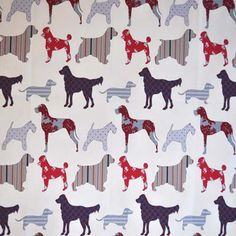 Hollyfield - Seaside blue - per metre Cot Bumper, Dog Rooms, Country Life, Mud, Seaside, Laundry, Room Ideas, Fabrics, Posters