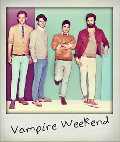 Vampire Weekend. Their drummer <3