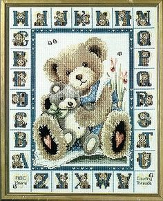 ABC Bear - I found this while browsing JuliesXstitch.com