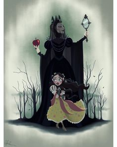 New Snow White piece! I wanted this to be a blend of every different version of Snow White that I love and to be like a creepy poster. If you want this piece as a print/shirt/etc there was a sale extension in my shop! 20% OFF + FREE SHIPPING ENDS TONIGHT (link in bio!) btw there were some good guesses as to what this piece was!! Clearly I need to watch Game Of Thrones? Lol #digitalart #digitalpainting #snowwhite #poster #creepyart