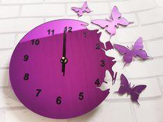 Clock, Wall, Modern, Home Decor, Watch, Trendy Tree, Decoration Home, Room Decor, Clocks