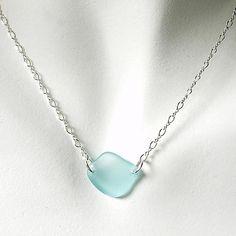 Aqua Glass Laurie Necklace - Relish, Inc.