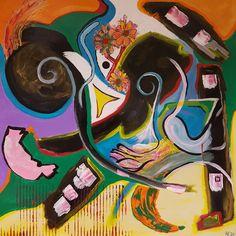 Onderweg, schilderij van Mimpi-ARt, Arjen Vonk | Abstract | Modern | Kunst