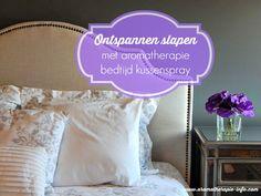 Aromatherapie bedtijd kussen spray helpt volwassenen en kinderen te ontspannen voor het naar bed gaan.