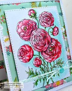 ChristineCreations: Ranunculus stamp set by Power Poppy.