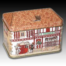 """House Shaped Tin """"Local Bar"""" Various Activities Colourful French Container"""