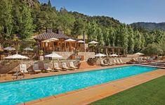 Foodies relish this California resort's wine-tasting seminars; all go gaga (including Lady Gaga herself!) for the 48 cottages' private patios and outdoor showers. The sublime Bathhouse Spa offers mineral pool soaks, healing mud wraps, and lavender body balm massages. Rooms from $675, Calistoga Ranch.