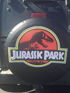 Jurassic Park Tire cover. Protect your spare tire from cracking and harmful UV rays with this stylish tire cover!   100% satisfaction guaranteed: Full refunds provided, buyer pays return. Must return product within 7 business days.