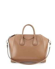 V2JTR Givenchy Antigona Medium Sugar Satchel Bag, Dark Beige