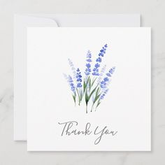 Shop Watercolor Lavender Bouquet Thank You Card created by MartiGambaArt. Personalize it with photos & text or purchase as is! Watercolor Birthday Cards, Birthday Card Drawing, Watercolor Cards, Floral Watercolor, Simple Watercolor Flowers, Watercolor Ideas, Watercolor Paintings, Calligraphy Cards, Calligraphy Flowers