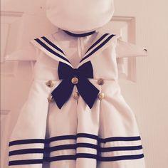 Infants dress Adorable infants sailor dress with hat Dresses