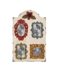 Vintage Wooden Wall Photo Frame Plaque - This Vintage Wooden Wall Photo Frame Plaque is quite wide in size; this ensures that it can accommodate seven frames that come attached with it. The outer frame is brown in color with an off-white, and the individual frames are in color with a distressed look. All this creates a cool effect, almost like making one nostalgic was it top priority. Perfect for hanging your treasured memories; this frame will be a perfect attachment to your bedroom wall.