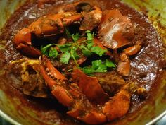 Goan Crab Xacuti Curry is the famous dish at all hotels. Goan Crab Curry Recipe is cooked by roasting n grinding spices. Goan Crab Masala is goan peoples favorite dish. Goan Recipes, Veg Recipes, Curry Recipes, Seafood Recipes, Indian Food Recipes, Cooking Recipes, Ethnic Recipes, Oriental Recipes, Shellfish Recipes
