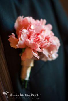 Kwiaciarnia Borto - Kula z delikatnie różowych goździków