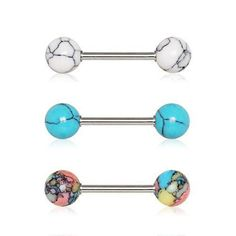 Rose Gold Revo Illumilating Gold Plated Steel Freedom Fashion Barbell Tongue Ring