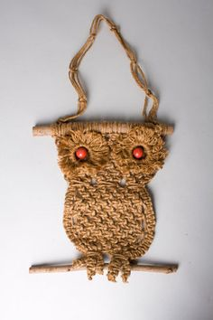 Macrame was big and it seemed like EVERYONE had one of these owls on their wall in 1972 - including me.