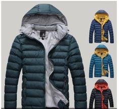 2014 Men's Warm Hoodie Hoodey Coat Parka Winter Coat Outwear Down Jacket Men's Coats And Jackets, Winter Jackets, Mens Parka Jacket, Mens Winter Coat, Winter Parka, Cotton Jacket, Fashion Bags, Men Fashion, Trendy Fashion