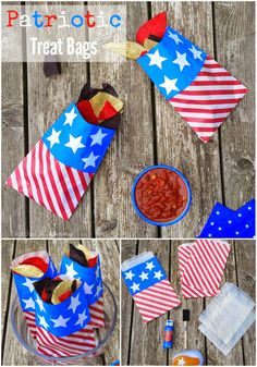 DIY patriotic treat bags for Memorial Day or the 4th Of July