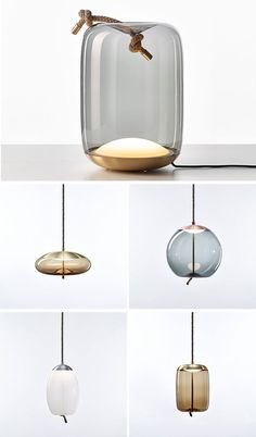 ChiaramonteMarin Designstudio Has Created A Glass Lamp Named KNOT