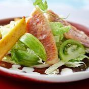Filet de rouget rôti, panisses au citron confit - une recette Poisson - Cuisine