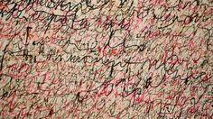 Simon Hantai - Écriture rose 1958 - Asemic writing