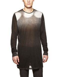 DRKSHDW by Rick Owens Semi-Sheer Gradient T-Shirt