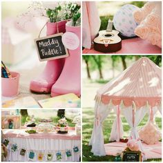 Princess Peppa Pig Picnic Party with Lots of Really Cute Ideas via Kara's Party Ideas KarasPartyIdeas.com #PicnicParty #PeppaPigParty #PartyId...