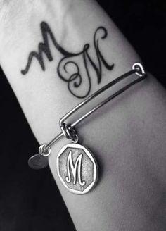 Tattoo wrist letter quotes ideas tattoo designs ideas männer männer ideen old school quotes sketches Tatoo Letter, Letter M Tattoos, Music Tattoos, Wrist Tattoos, Body Art Tattoos, New Tattoos, Alphabet Tattoo Designs, Alphabet Design, Trendy Tattoos