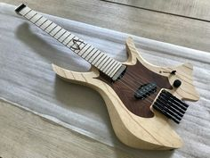 "Skervesen Custom Guitars on Instagram: ""Shoggie Strikes Back 😁 How do you like this raw and classy finish? 🤔 . . ____________________________ #skervesen #skervesenguitars…"""