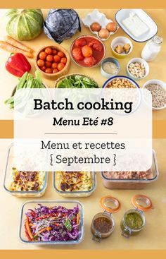 Batch cooking Eté - The Best American Recipes Batch Cooking, Healthy Cooking, Cooking Tips, Healthy Breakfast Recipes, Lunch Recipes, Healthy Recipes, Everyday Food, Vegetable Dishes, Food Inspiration