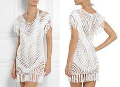 Tina's handicraft : mesh summer dress with fringes