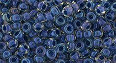 TR-08-188 Round 8/0: Inside-Color Luster Crystal/Capri Blue Lined