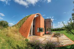 Inspired by medieval dome-shaped dwellings, Richard Hawkes' eco Passivhaus was highlighted in October 2013 because of its creative use of low-carbon and natural materials, such as recycled newspaper insulation. See more Eco Home ideas here: http://www.self-build.co.uk/blog/great-eco-homes