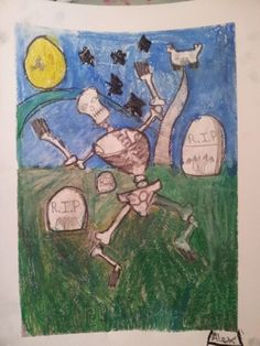 a lovely Halloween picture from Saturday's Art Club at Faux Arts