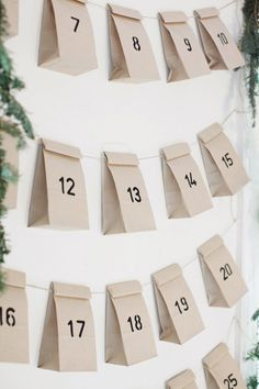 Start your Christmas countdown and make it a fun activity for all the kids at home with the below-given DIY advent calendar ideas. Christmas Calendar, Noel Christmas, Simple Christmas, All Things Christmas, Winter Christmas, Christmas Countdown, Xmas, Nordic Christmas, Modern Christmas