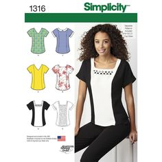 misses top with separate patterns for b, c, d cup sizes with necklines, sleeve   and embellishment options. american sewing guild.