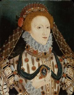 Queen Elizabeth I (1533-1603) Reigned 1558-1603 by unknown artist, British 16th century. Government Art Collection.